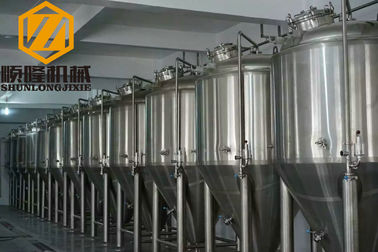 China Beer Brewing Conical Fermenter 10HL 2mm Cooling Jacket #4 Finished Exterior Surface supplier