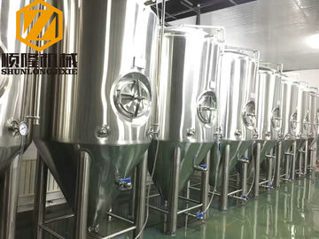 China Large Fermentation Tanks 1500L Single Wall Dimpled Plate On Cone And Barrel supplier