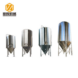 China Fast Conical Beer Fermenter , Bright Beer Stainless Steel Conical Bottom Tank supplier