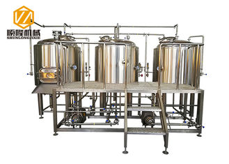 China Stainless Steel 3 Vessles 500L Mini Brewery With 8 Fermentation Tanks supplier