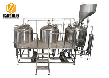 China 1000L Electric gas steam heating beer production equipment with malt hopper supplier