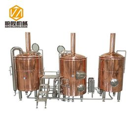 China Three Vessles Beer Brewing Kit 2000L Brewhouse With 8 Units Of Fermenters supplier