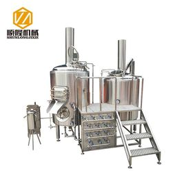 China Multifunctional 500L Beer Brewing Equipment Brewhouse Combanation With 8 Fermentation Tanks supplier