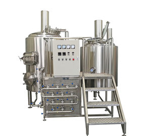 China 500L Semi Automatic Small Brewery Equipment Two Vessels With Steam Condenser supplier