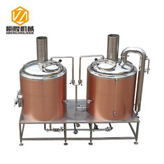 China Rose Gold SS304 / 316 500L Small Brewery Equipment 50 / 60 Hz Frequency supplier