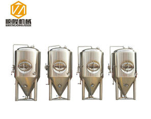 China 1000L Beer Fermentation Tanks , Stainless Steel Double Jacket Tank Fermenter With Dry Hopping supplier