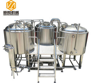 China SS304 Material Small Microbrewery Equipment , Automated Beer Brewing System supplier
