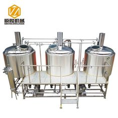 China Bright Color Stainless Steel 1000Lbeer Brewing Equipment , Micro Beer Brewery Equipment supplier