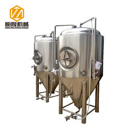 China Durable Beer Fermentation Tanks Inner 3mm Out 2mm Cladding Dish Cover supplier