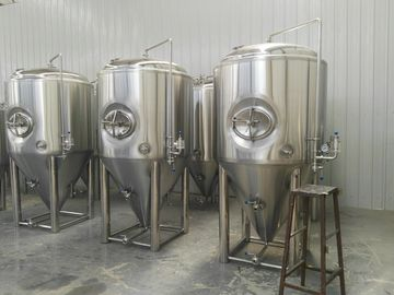 China Side Manhole 1000l Conical Fermentation Tank With 3 Bar Pressure Vessels supplier