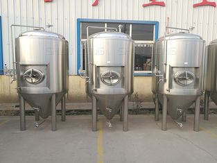 China 5000l Beer Fermentation Tanks Side Manway Bunging Valve Glycol Jacket supplier