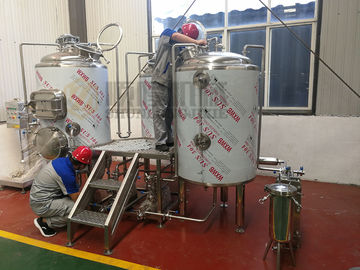 China Microbrewery 500l Beer Brewing Equipment Plc Control With 2 Vessels Brewhouse supplier