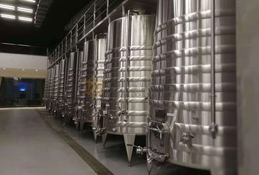 China Adjustable Power Stainless Steel Fermentation Tank , 20hl Stainless Wine Fermenter supplier