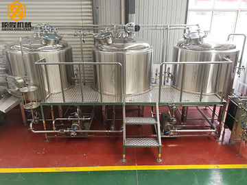 China three vessels professional brewing equipment 1000L combination brewhouse with 6 fermenters supplier