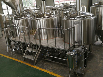 China 380V 2000L Beer Brewing Kit with keg washer , outdoor exhausting design supplier