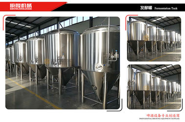 China Jacketed / Insulated Stainless Steel Fermentation Vessel 0.2mpa Working Pressure supplier