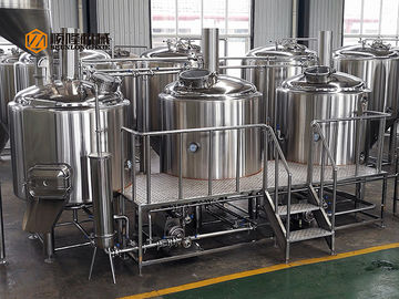 China Steam Heating Beer Brewing Equipment 1000L Stainless Steel Three Vessels supplier