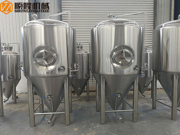 China 2 Bars Beer Fermentation Tanks Stainless Steel Material Double Jacket supplier