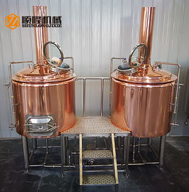 China Hotel / Restaurant Micro Beer Brewing Equipment , 300l Red Copper micro brewery equipment supplier