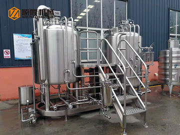 China 500L Stainless Steel Microbrewery Brewing Equipment Two Vessles Brewhouse For Exhibition supplier
