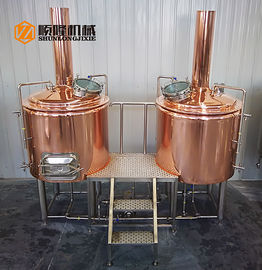 China Red Copper Tank Small Brewery Equipment , 300L Beer Making Equipment supplier