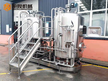 China Semi Automatic Stainless Steel Beer Brewing Equipment , Micro Brewery Equipment supplier