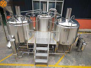 China Steam Heated brewhouse Equipment 1000L Rock Wool / PU Foam Insulation supplier