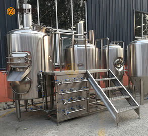 China 300L Capacity Brewhouse Equipment , Stainless Steel 3 Vessel Brewhouse supplier
