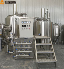 China Stainless Steel Mini Brewery Equipment 500L Brewhouse 2B Finished Surface supplier