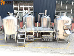 China 2000 Liter Beer Brewing System , Stainless Steel Beer Making System PLC Avaiable supplier