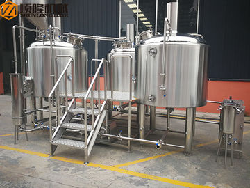 China 10HL Stainless Steel Brewing Equipment Indoor / Outdoor With Mobile CIP System supplier