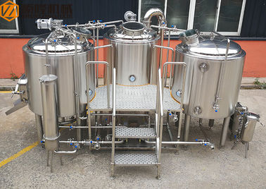 China Stainless Steel Beer Making System 500L Capacity Brewhouse Steam Heating supplier