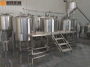 China 3 Vessel Brewing System Plate Heat Exchanger Auto / Semi Automatic Control supplier