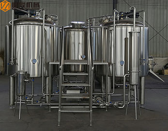 China 10HL Industrial Beer Brewing Equipment Stainless Steel Full Set Auto / Manual Control supplier