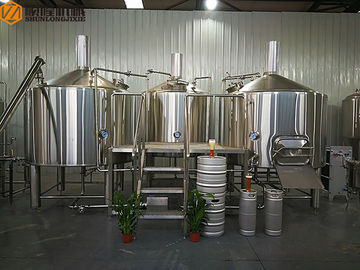 China 2000 L Beer Brewing System Microbrewery Equipment With Steam Heating System supplier
