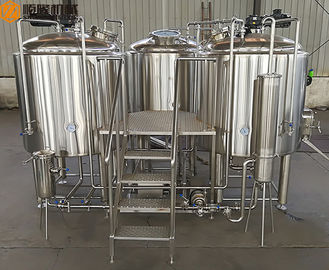 China 500 L Beer Brewing Kit Beer Making Equipment With Three Vessles Brewhouse supplier