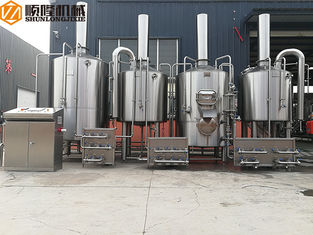 China PLC Control Beer Production Line Auto 1500KL Steam Heating Stainless Steel Material supplier