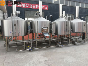 China PLC Control Stainless Steel Beer Brewing System , Beer Making Equipment Steam Heating supplier