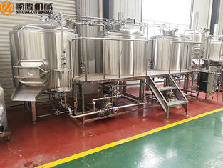 China Ss Beer Microbrewery Brewing Equipment With Operation Platform For Brewpub supplier