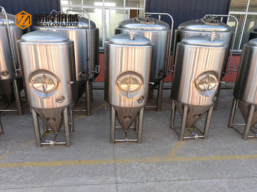 China 1000L Side Manhole Conical Beer Fermenter 60 Degree Cone For Beer Brewing supplier