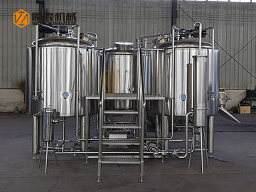China PLC Three Vessels Commercial Brewing Equipment , Fermentation Equipment supplier