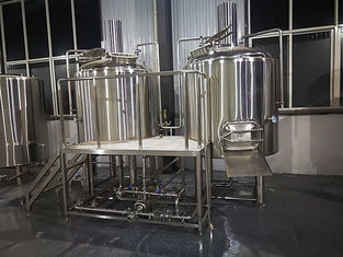 China 500 L Beer Brewing Equipment , Microbrewery Equipment With Two Vessels supplier