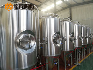 China 600 L Bright Polished Beer Fermentation Tanks , Large Conical Fermenter supplier