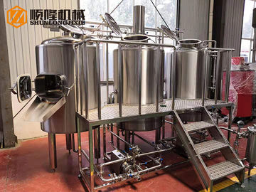 China SS304 Direct Fire Heated 2 Vessel Brewhouse Equipped With Hot Water Tank supplier
