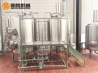 China 2 Vessels Brewhouse Microbrewery Brewing Equipment Electrical Heating Use supplier