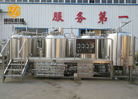 China Semi - Auto Control Beer Distillery Equipment 2000L 4 Vessels With Mash / Lauter factory