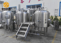 German 2 Phases Small Microbrewery Equipment Stainless Steel 500L With CE / ISO