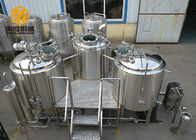 China 3 Vessels Micro Brewing Systems Abrasion Resistant 500L / 1000L Tanks factory