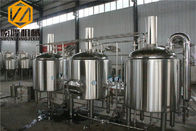 China Hotel / Restaurant Beer Brewing Kit , Conical Tank Beer Distillery Equipment factory