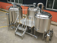 China 7 BBL Beer Making Equipment , Complete Microbrewery System Glycol Cooling System factory